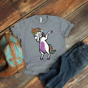 Dabbing Unicorn Shirt Magical Unicorn Vintage Tshirt Vintage image 0
