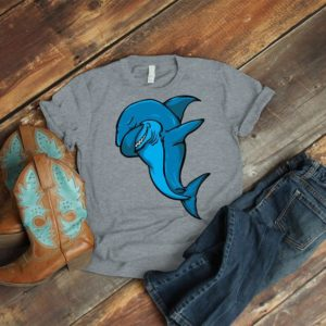Dabbing Shark Shirt Great White Shark Dancing T-Shirt Womens image 0