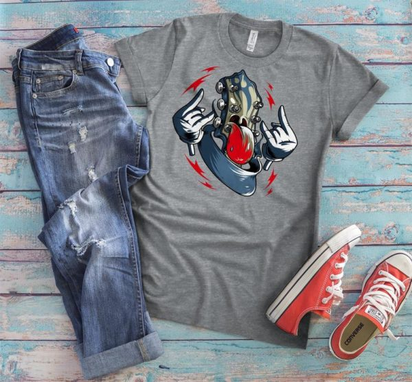 Retro Vintage Rock and Roll T-shirt Band Tee Womens Graphic image 0