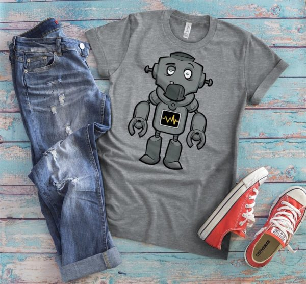 Cute Mr Robot Shirt Science Geek T-Shirt Sci Fi Nerd Gifts image 0
