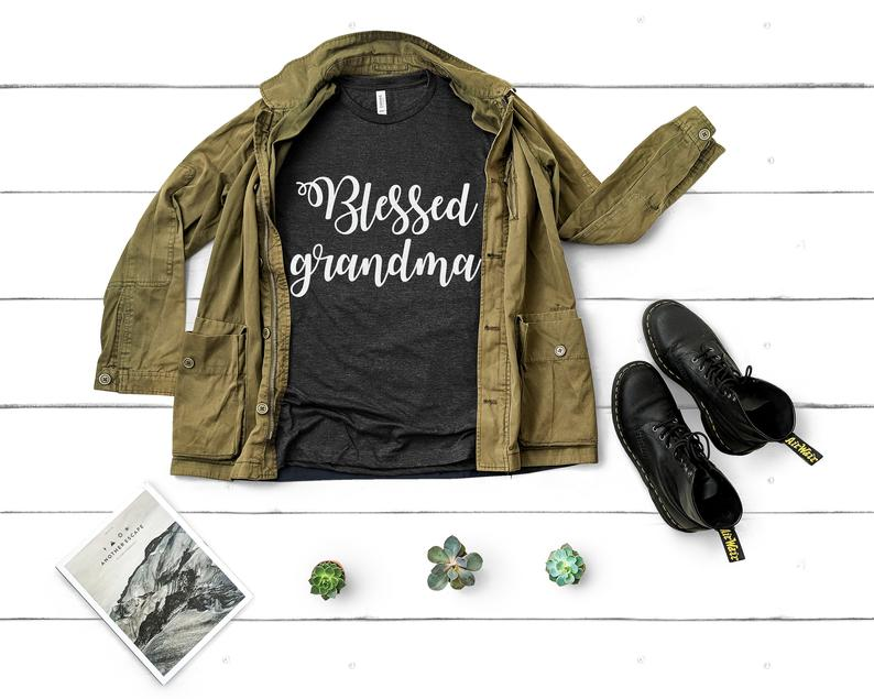Blessed Mama Blessed Grandma Funny Thanksgiving Shirts image 0