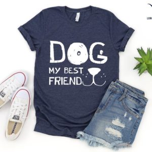 Dog My Best Friend Shirt Christmas Gift Shirts Custom Gift image 0