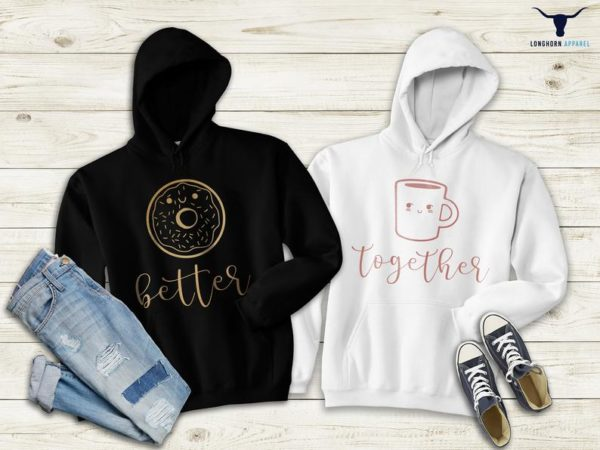 Couple Matching Hoodies Together Better Hoodie Couple Long image 0