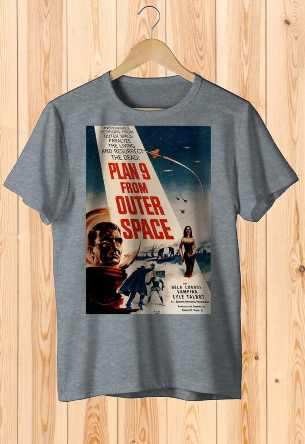 Plan 9 From Outer Space Retro Space Movie Poster Art Shirt image 0