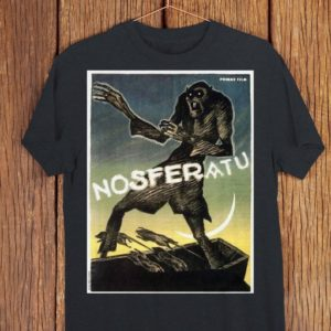 Nosferatu Retro Vampire Movie Poster Scary Art Shirt  Cult image 0