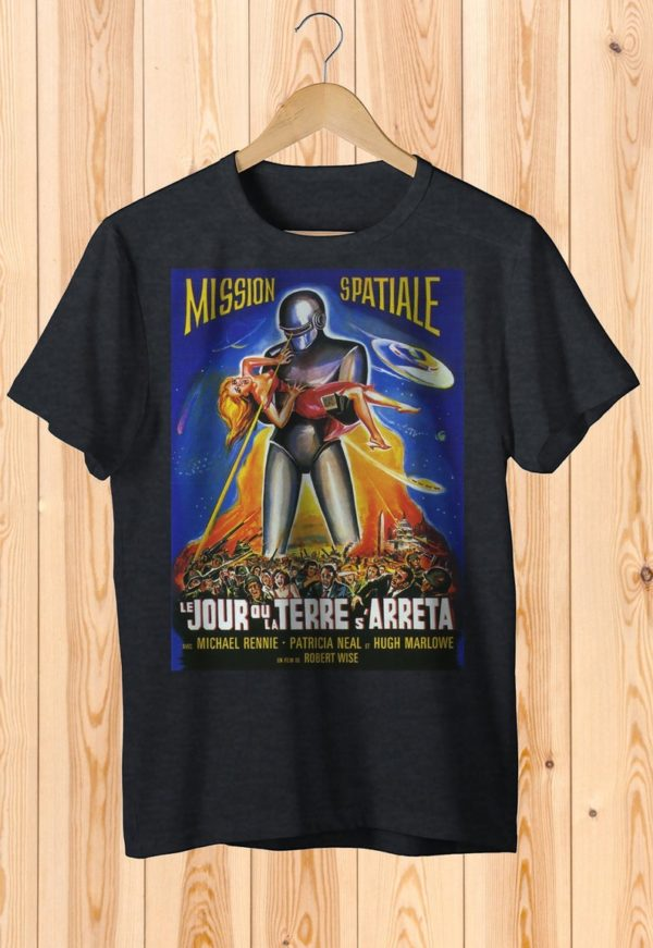 Mission Spatiale Retro Space Movie Poster Tee Art Shirt image 0