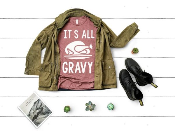 It's all Gravy Funny Thanksgiving Shirts Family image 0