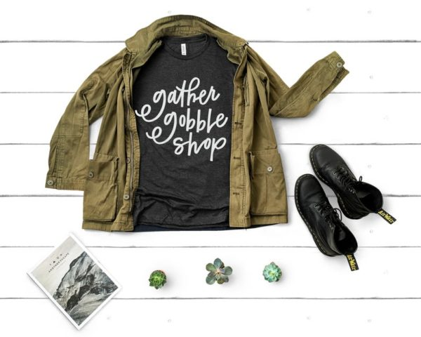 Gather Gobble Shop Funny Thanksgiving Shirts Family image 0