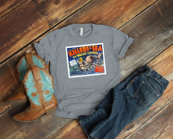 Killers Of The Sea Retro Movie Poster Art Shirt  Cult image 0