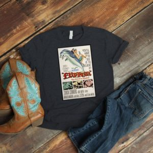 Flipper The Fabulous Dolphin Retro Movie Poster Art Shirt image 0