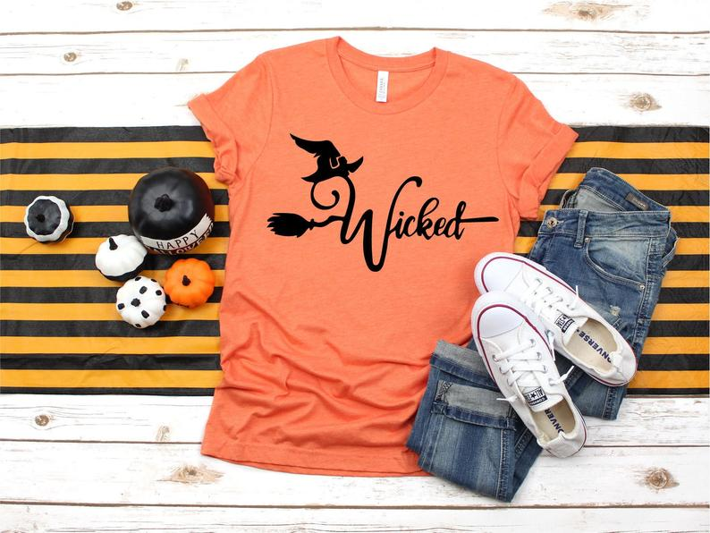 Wicked T-shirt Halloween T-shirt Wicked Shirt Wicked image 0