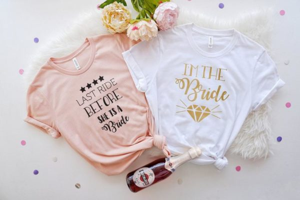 Bachelorette Party Shirts Last Ride Before She's A Bride image 0