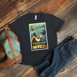 Creature From The Black Lagoon Retro Movie Poster Art Shirt image 0