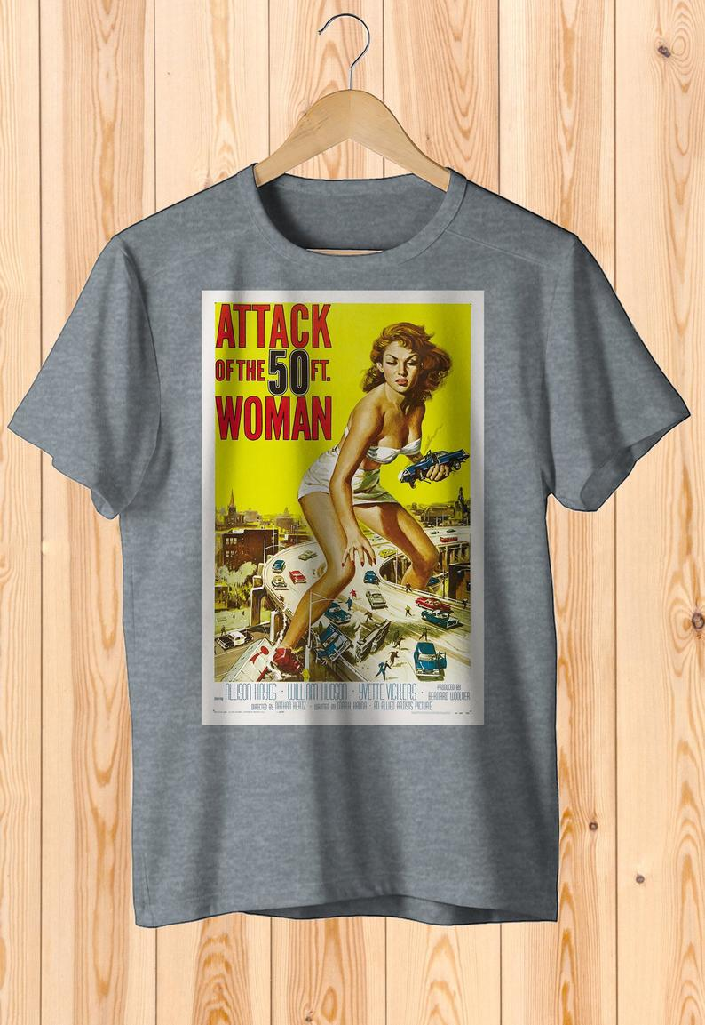 Attack Of The 50 Ft Woman Retro Movie Poster Art Shirt  Cult image 0