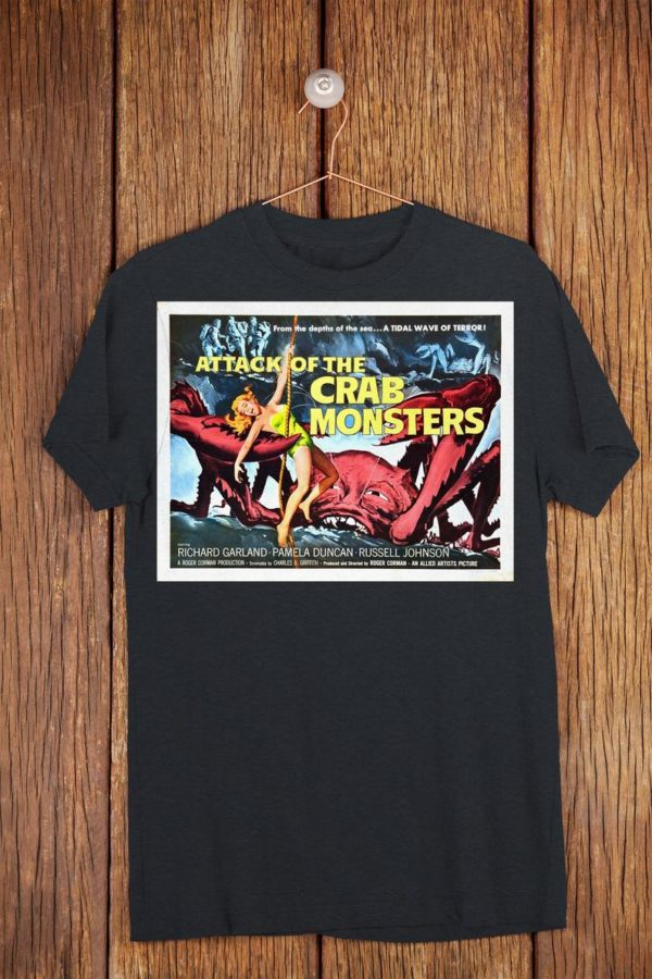 Attack Of The Crab Monsters Retro Movie Poster Art Shirt Old image 0