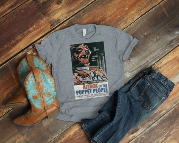 Attack Of The Puppet People Retro Movie Poster Art Shirt image 0