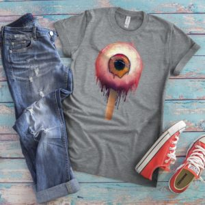 Creepy Eyeball Shirt Bloody Eye Retro Vintage T-Shirt Evil image 0
