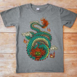 Chinese Dragon Shirt Oriental Retro Vintage Tshirt East image 0