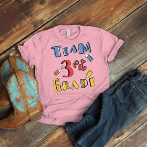 Team 3rd Grade Matching Grade Level Tees Third Grade Teacher image 0