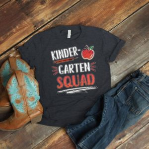 Kindergarten Squad Team Teacher Shirts Kinder Crew Tribe image 0