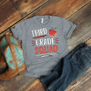 Third Grade Squad Team Teacher Shirts 3rd Grade Crew Tribe image 0