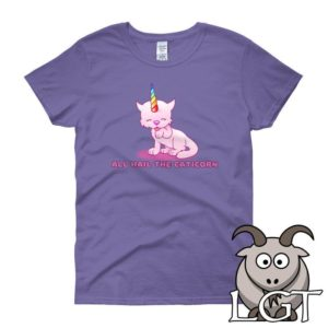 All Hail the Caticorn Shirt Funny Cat Shirt Cute Cat Shirt image 0