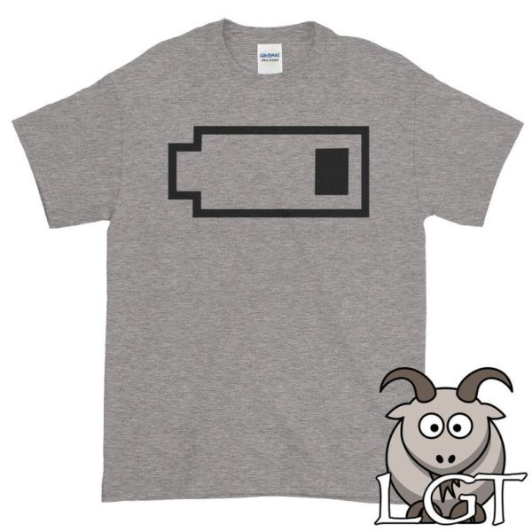 Low Battery Shirt Exhausted Shirt Dead Battery Shirt image 0