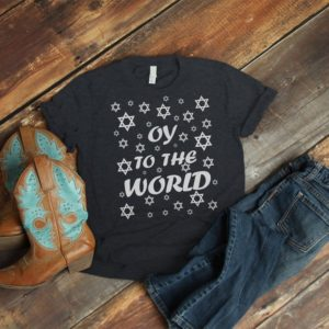 Oy To The World Funny Jewish Christmas Pun Hanukkah Sweater image 0