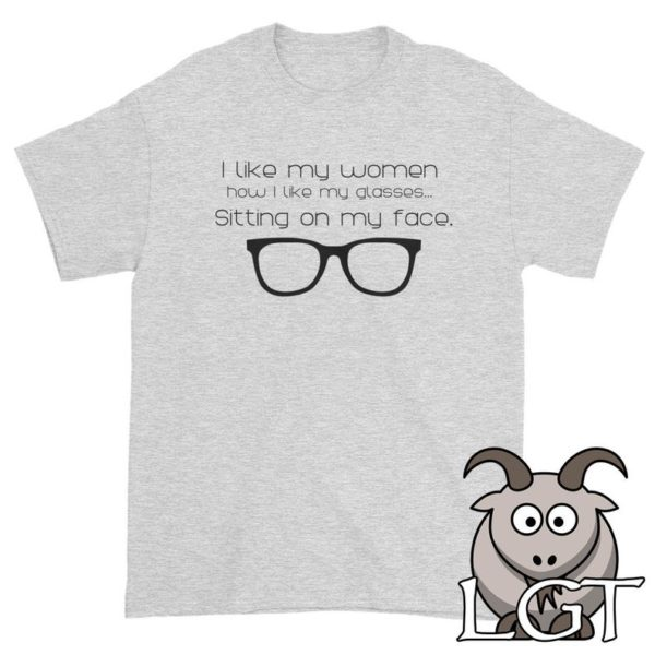 Glasses Sitting On My Face Funny T Shirts Sexual Humor T image 0