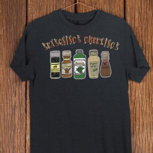 Seasonings Greetings Funny Christmas T Shirt Food Pun image 0