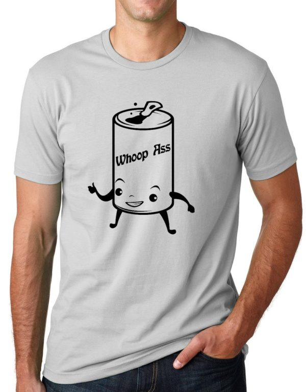 Can of Whoop Ass Funny T-shirt humor tee Gifts for men Gifts image 0