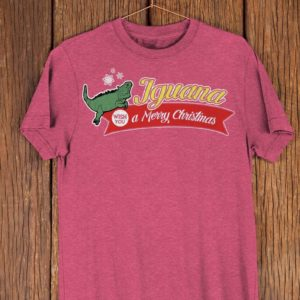 Iguana Wish You A Merry Christmas Funny Christmas T Shirt image 0