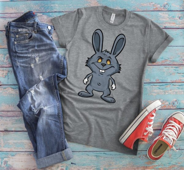 Evil Bunny Shirt Rabbit T-Shirt Easter Gifts Retro Vintage image 0