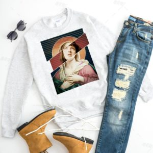 Virgin Mia Wallace Pulp Fiction Mashup Unisex Crewneck image 0