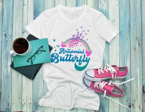 Antisocial Butterfly Women's Fitted Tee / Antisocial Club image 0