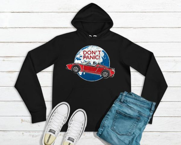 Don't Panic Hoodie / SpaceX Shirt / Space Car T-Shirt / image 0