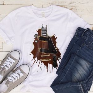 Vintage Les Paul Electric Guitar Player Gift Tshirt / Guitar image 0