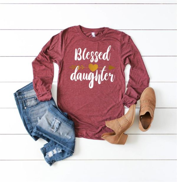 Blessed Daughter Gift Unisex Jersey Long Sleeve Tee / Gift For image 0