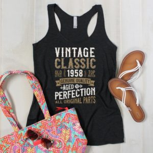 60th Anniversary 60th Birthday Party Tank Shirt / 1958 Vintage image 0