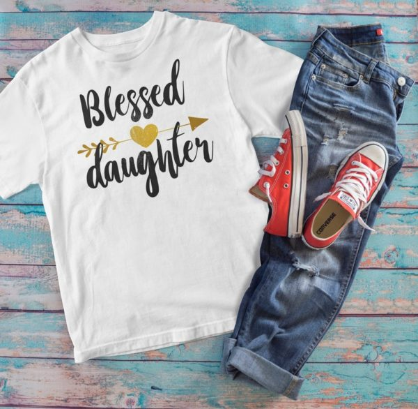 Blessed Daughter Gift Kids Fine Jersey Tee / Gift For Daughter image 0