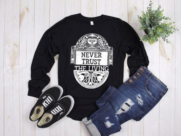 Never Trust the Living Long Sleeve / Death Shirt Occult Shirt image 0