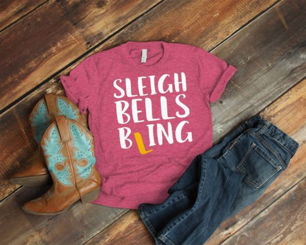 Sleigh Bells Bling Christmas Engagement Ring Shirt Newly image 0