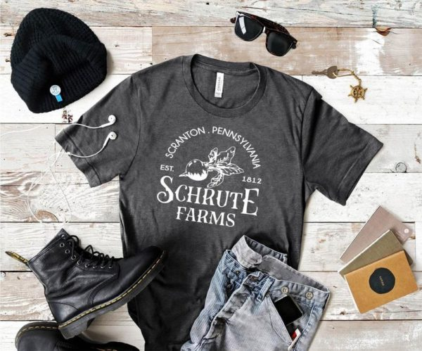 Schrute Farms T-Shirt  Funny The Office Tee Shirt  Dwight image 0