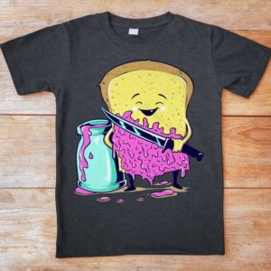 Bread And Jelly Shirt Sandwich Vintage Tshirt Vintage Dark image 0