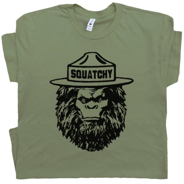 Sasquatch T Shirt Funny Camping Shirts Hiking Tee Bigfoot image 0