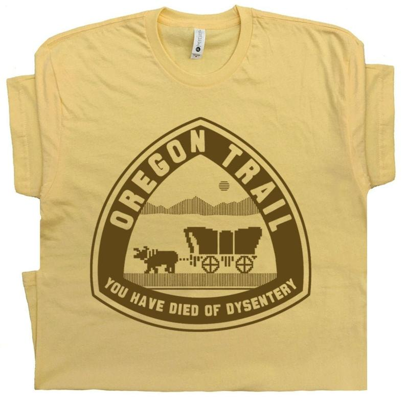 Oregon Trail T Shirt You Have Died of Dysentery T Shirt Funny image 0