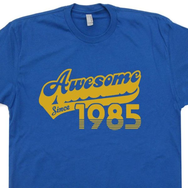 Awesome Since 1985 T Shirt 35th Birthday T Shirt 1985 Birthday image 0