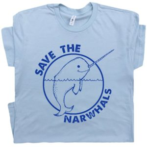 Narwhal T Shirt Save The Narwhals Shirts Cute Funny Animal image 0