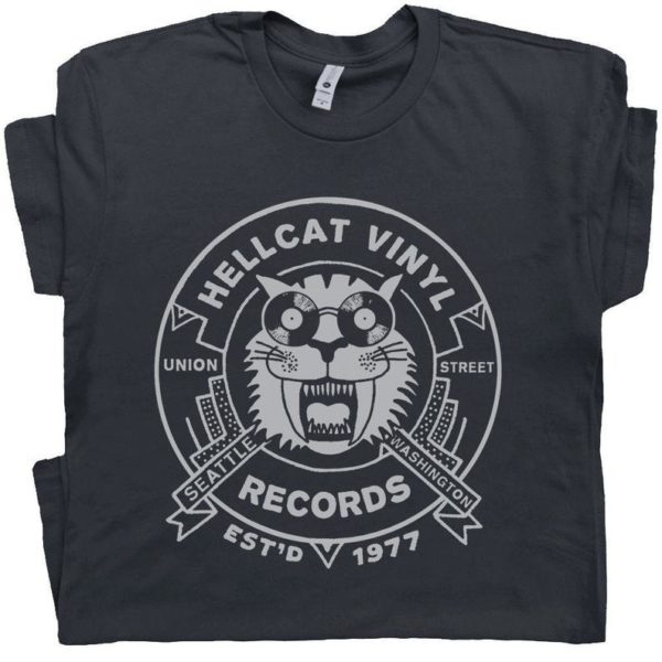 Vinyl Record T Shirt Cool T Shirts Seattle Record Store image 0