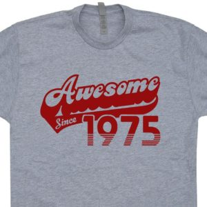 Awesome Since 1975 T Shirt Vintage 1975 Birthday T Shirt Born image 0